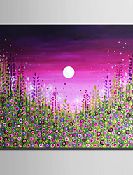 Mini Size E-HOME Oil painting Modern Under The Moon Flowers Pure Hand Draw Frameless Decorative Painting