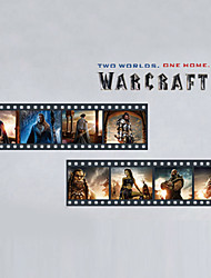 3034 Movie Theaters Warcraft Decals Characters Children's Room Wall Stickers Cartoon Decor