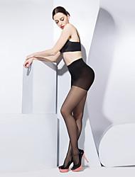 BONAS® Femme Couleur unie Moyen Legging-@5003