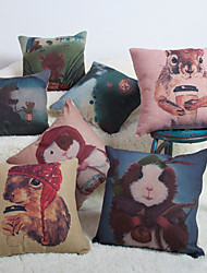 Baolisi Set of 7 Cartoon Decorative Pillow /Children of the World