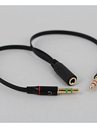 YONG WEI® Audio jack de 3.5mm-Audio jack de 3.5mm 0,35 m (1.15Ft)