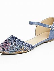 женская обувь ткани плоские пятки острым носом / квартиры / партии&вечер / платье / синий / серый / миндальное