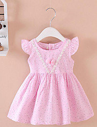Baby Casual/Daily Solid Dress,Cotton Summer Blue / Pink / Yellow
