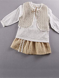 Girl's Casual/Daily Solid Blouse,Cotton Fall Brown