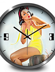 Retro Sexy Woman Creative Study Home Furnishing Decorative Wall Clock