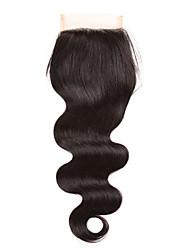 8 inch-20 inch Черный U Part Естественные кудри Человеческие волосы закрытие Умеренно-коричневый Швейцарское кружево 26 грамм Средние