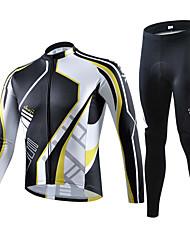 Sportif Vélo/Cyclisme Hauts/Tops / Bas Homme Manches courtes Respirable / Elastique / Anti-transpiration Elasthanne BlancS / M / L / XL /