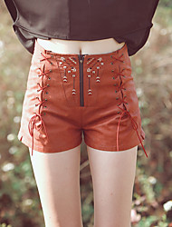Aporia.As® Dames Medium taille Shorts Beige Vrijetijdsschoenen Broek-mz11013