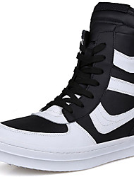 Men's Shoes Customized Materials Athletic / Casual Fashion Sneakers Athletic / Casual Flat Heel Lace-up Black / White