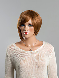 Stylish Natural Vertical Human Hair Wig with 5 Colors Choose