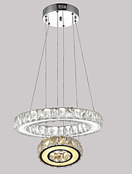 LED Ring Crystal Chandeliers Pendant Light Hanging Lamp Fixtures with D2040CM 27W CE FCC ROHS