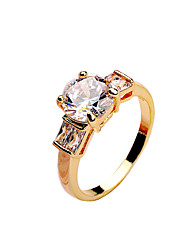 Fashion Korean Ladies ring made of copper inlaid CZ Ring White Gold Rose Gold gold gold color