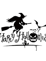 aw9427 Halloween Shop Glass Window Stickers Wall Stickers Halloween   Home Decor Witch Stickers