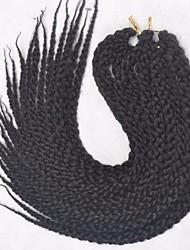 Twist cubique Tresses Twist Extensions de cheveux 18inch Kanekalon 4 Brin 120g gramme Braids Hair