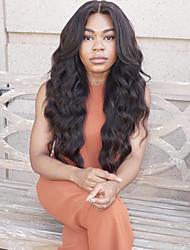 top beauté meilleure vente noir naturel longs ondulés avant de dentelle de chaleur perruque cheveux synthétiques résistantes femmes