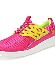 Черный / Розовый / Белый / Серый-Женская обувь-Для занятий спортом-Тюль-На плоской подошве-Удобная обувь-Кроссовки