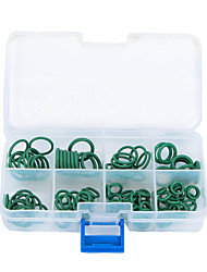 105 Pcs 8 Size HNBR Air Condition O Rings Seal Sealing Gaskets Green for Car