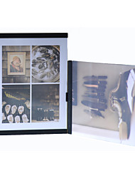 "New Arrival Leggyhorse 4"" x 6"" Flexible Transparent Acrylic Photo Frame Simple Set,White/Black Color, Set of 2 Frames"