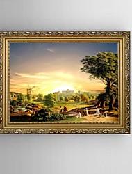 toile set Paysage Style européen,Un Panneau Toile Horizontale Imprimer Art Décoration murale For Décoration d'intérieur