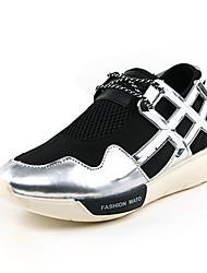 Damen-Flache Schuhe-Lässig-Tüll-Flacher Absatz-Komfort-Silber / Gold
