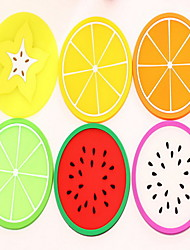 Fruit Pattern Skid Coaster(Random Color)