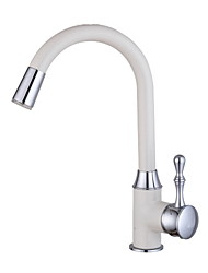 White Painting Kitchen Sink Faucet LED light Wet Sink Bar Faucet
