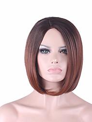 más vendido de Europa y los Estados Unidos de 10 pulgadas peluca bobo gradiente de color marrón oscuro