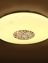 BOXIMIYA Simple Bedroom Three Color Changing LED Light Circular Dome Light 44 Cm in Length