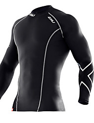 Running Tops / Pants Men's Breathable Fitness / Racing / Football Sports Sports Wear Tight Black