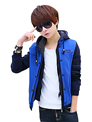 Autumn jacket hooded sweater coat male young Korean students leisure sport sweater false two male tide
