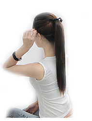 """New Fashion 22"""" Ponytail Hairpieces With Ribbon And Clip On Hair Piece Straight Four Colors Fake Hair Ponytails"""