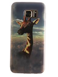 Pour Samsung Galaxy S7 Edge Motif Coque Coque Arrière Coque Animal Flexible PUT pour SamsungS7 edge S7 S6 edge S6 S5 Mini S5 S4 Mini S4