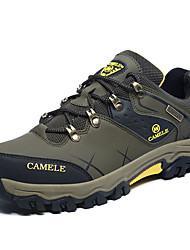 Коричневый / Зеленый-Мужской-На каждый день-Полиуретан-На плоской подошве-Удобная обувь-Кеды