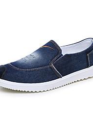 Herren-Flache Schuhe-Lässig-Leinwand-Flacher Absatz-Komfort-Blau