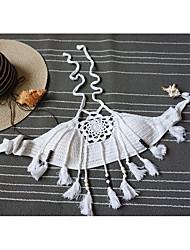 Women's Beach Street chic Summer Tank Top,Solid Halter Sleeveless White / Black Rayon Thin