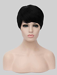 Black Full Wig for Women Cheap Wigs Short Wavy Synthetic False Hair Short Natural Women's Wigs