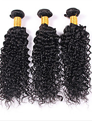 Человека ткет Волосы Малазийские волосы Kinky Curly 3 предмета волосы ткет