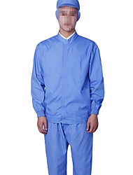 Blue Long-Sleeved Clothes Food Health Services Work Clothes Sterile Clothes Clean Food (Sold Blue)