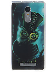 Owl Painting Pattern TPU Soft Case for Xiaomi Redmi Note 3