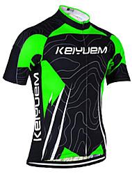 KEIYUEM Cyklodres Unisex Krátké rukávy Jezdit na kole DresRychleschnoucí Odolný vůči UV záření Přední zip Antistatický Prodyšné Zadní