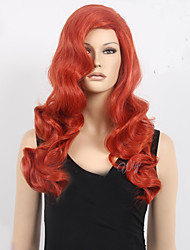 Top Quality Synthetic Hair Sexy Woman's Cosplay Wig Long Wavy Animated Orange Synthetic Costom Wig