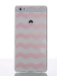 For Huawei Case / P8 / P8 Lite Ultra-thin Case Back Cover Case Lines / Waves Soft TPU Huawei Huawei P8 / Huawei P8 Lite