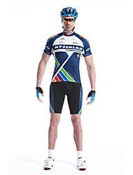 MYSENLAN® Camisa com Shorts para Ciclismo Homens Manga Curta MotoRespirável / Secagem Rápida / Zíper á Prova-de-Água / Zíper Frontal /