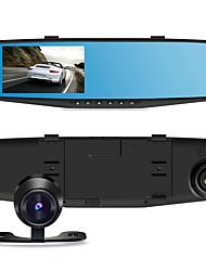 4.3 Inch Dual Two Lens Car Rearview Mirror Moniter 140 Degree Multi-Functionnd Rearview Mirror With Rearview Camera Lens