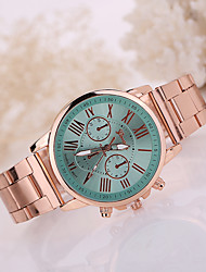 Women/Lady's Gold Stainless Steel Band Colorful Case No Water Resisstant Fashion Watch
