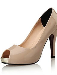 Women's Shoes Patent Leather  Fall Heels / Peep Toe / Heels Wedding