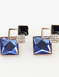 Earring Geometric Jewelry Women Fashion Wedding / Party / Daily / Casual / Sports Crystal / Alloy / Resin / Rhinestone 1 pair Gold