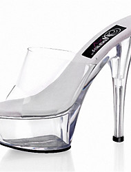 15cm crystal cool drag Women's Shoes Transparent PVC Heels Wedding/Outdoor/Party & Evening Stiletto Heel/The stage catwalk shows