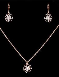 Elegant Luxury Design New Fashion Gold Plated Zircon Drop Jewelry Sets Women Gift