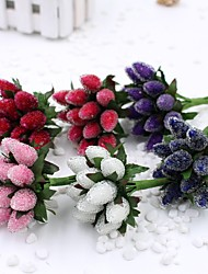 Hi-Q 1Pc Decorative Flower Hand Bouquet Strawberry Wedding Home Table Decoration Artificial Flowers